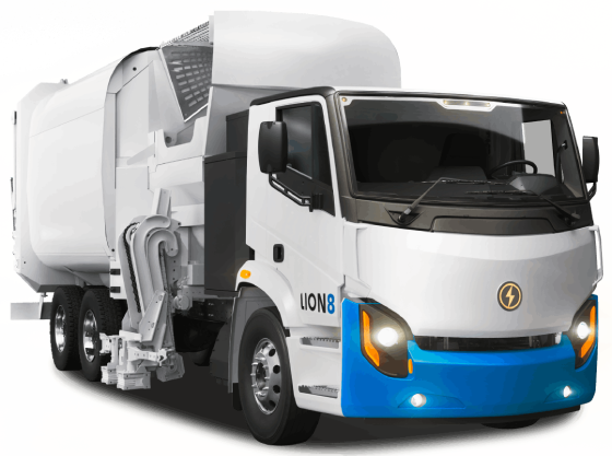Lion8 Tandem - All-Electric, Zero-Emission EV Truck | Lion Electric
